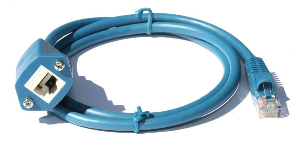 Panel Mount Cat 5E Blue 3FT Ethernet Cable