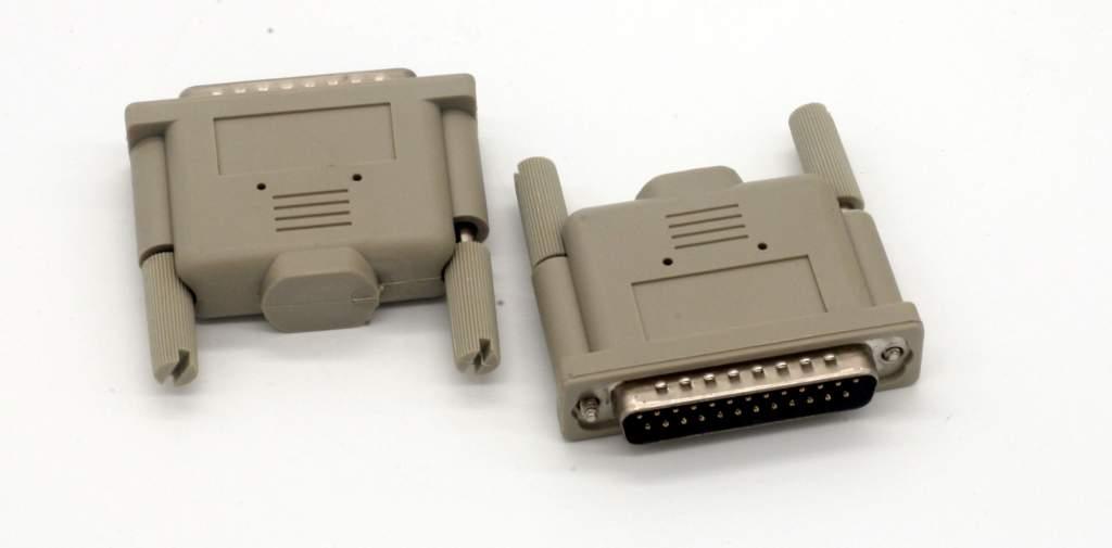Parallel Loopback Tester Adapter Plug DB25-Male port jack Loop Back Testing