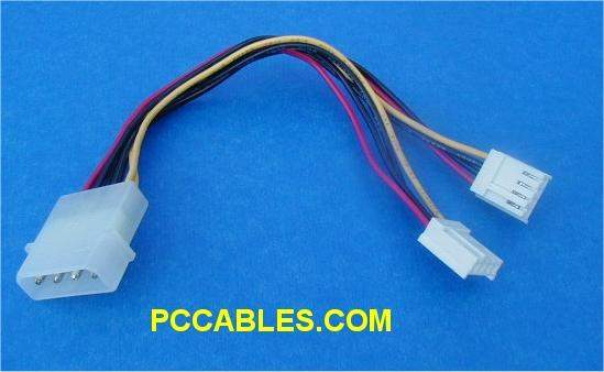 Power Cable Y 5.25 to 2-3.5