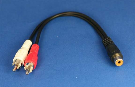 RCA Y Splitter Adapter Female Male Male 6 Inch