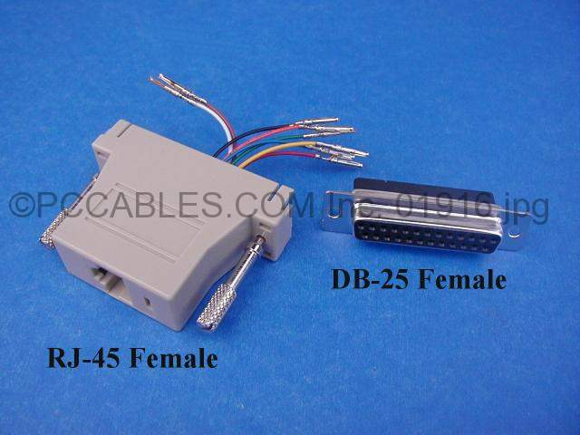RJ45 to DB25-F Adapter