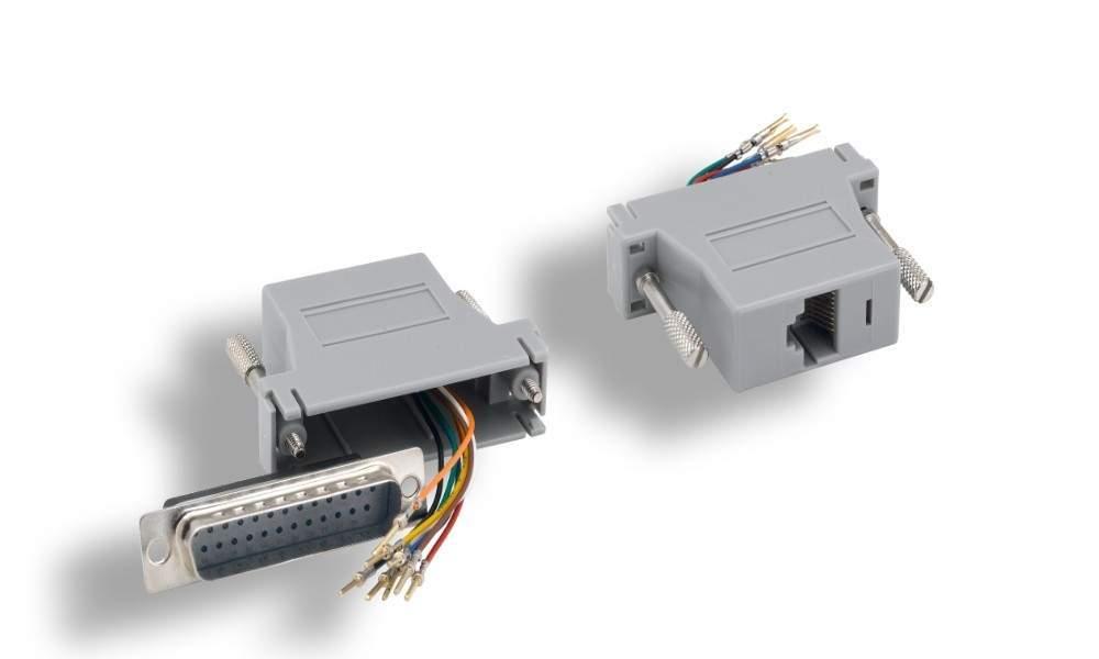 RJ45 to DB25-Male Modular Adapter