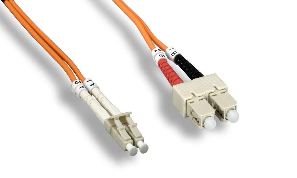 SC-LC FIBER OPTIC 1Meter 62.5 125UM Duplex Multimode