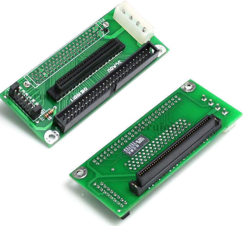 SCSI SCA80 to IDC50-M and HPDB68-F Adapter