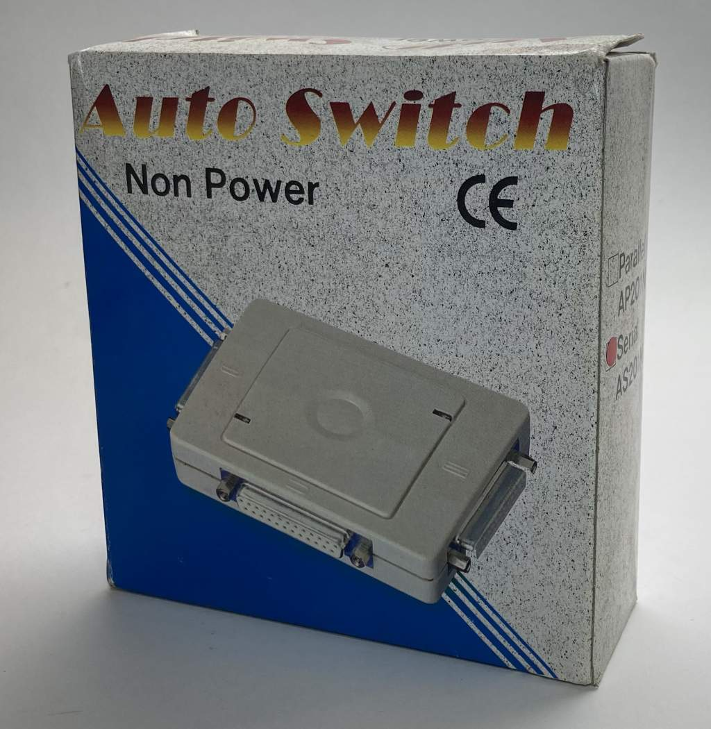 SERIAL 2 Port Auto Switch AUTO-25-2-S AS201N Device Serial Port Switch 2 to 1