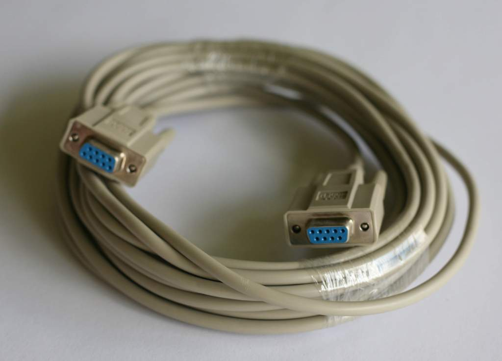 SERIAL NULL MODEM CABLE 25FT DB9-F DB9-F