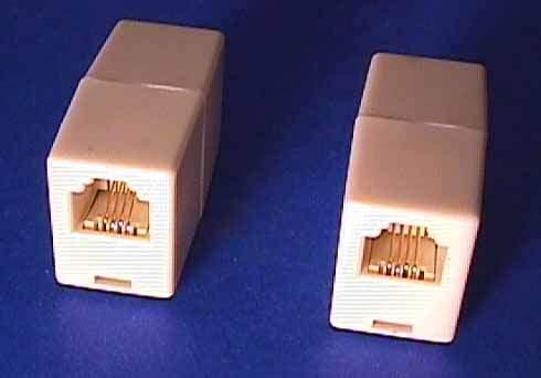 TELEPHONE RJ11 COUPLER 2F