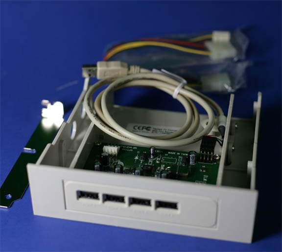 USB 1.1 4-PORT HUB 5.25 Drive Bay Front