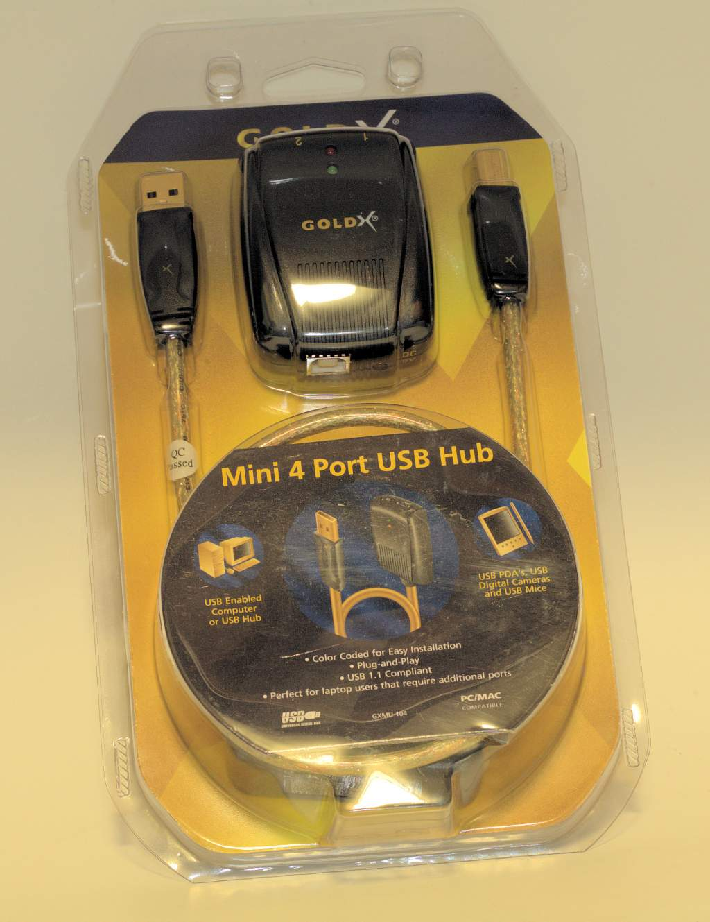 USB 1.1 4-PORT POWERED HUB