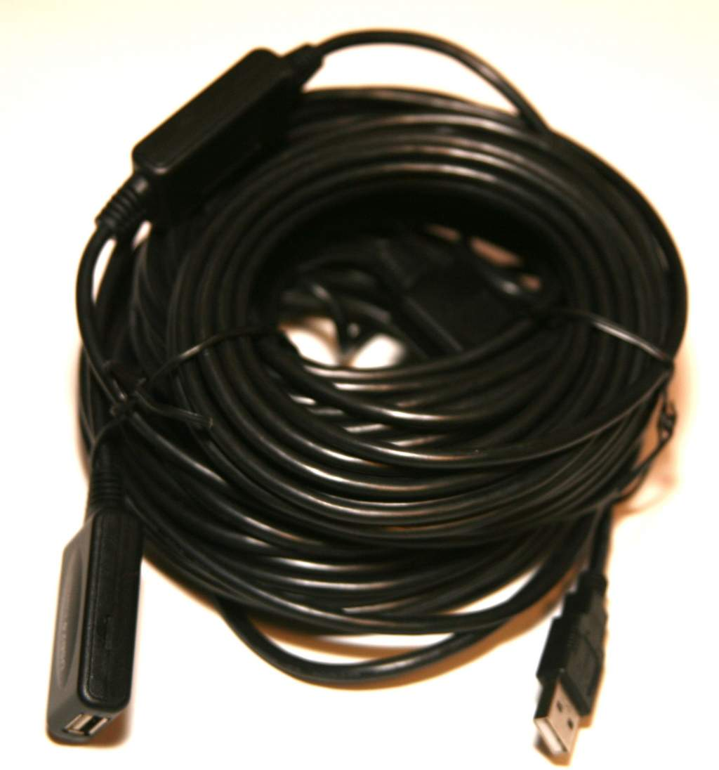 USB 2.0 COMPUTER CABLE EXTENSION A Male to Female 80FT 25Meter