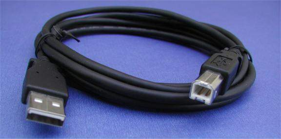 USB 2.0 COMPUTER CABLE TYPE A to TYPE B BLACK 3FT