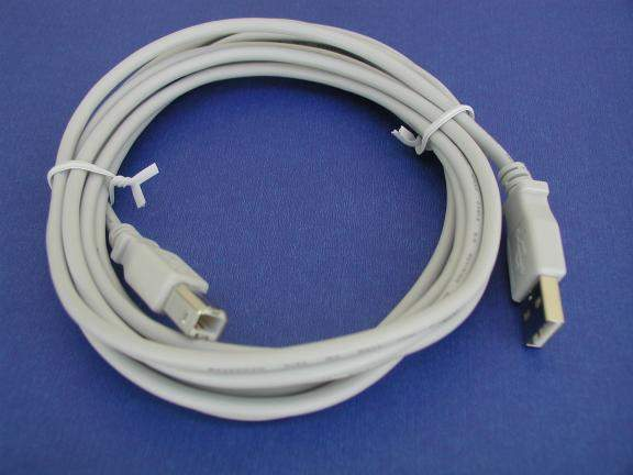USB 2.0 COMPUTER Cable TYPE A to TYPE B White 10FT