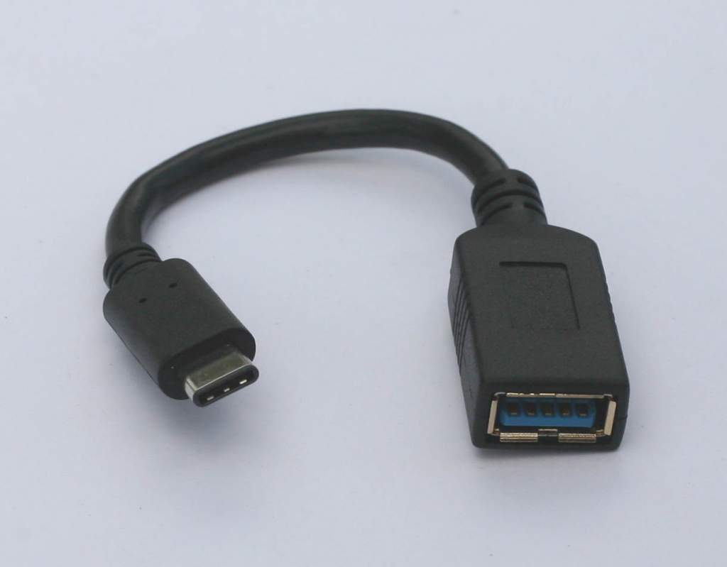USB 3.1 Type-C Male to Type-A Female Adapter Cable 6In