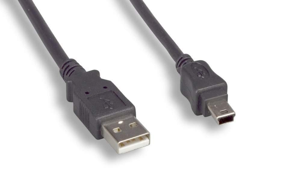 USB Camera Cable MINI-B 5-Wire 10FT