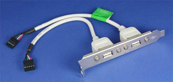 USB Dual Port on Bracket 6 Inch USBSC-25