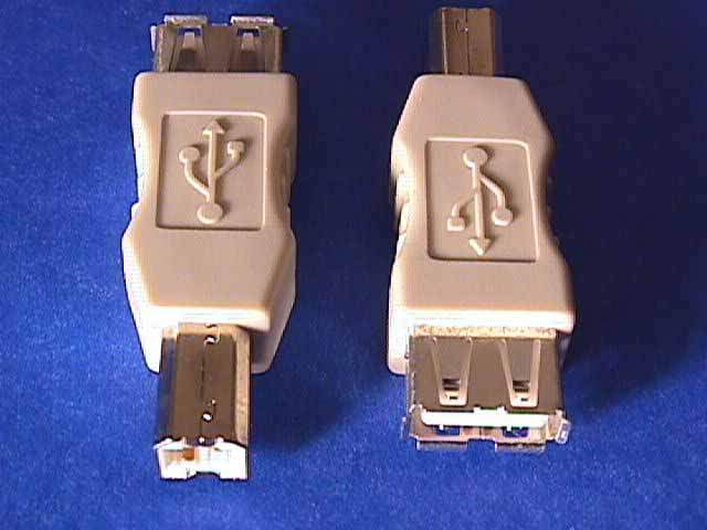 USB GENDER CHANGER TYPE A Female to TYPE B Male ADAPTER