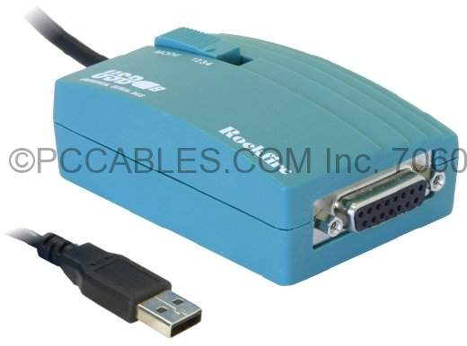 USB Game Port Adapter DB-15 to USB, PN:168199 Compatible