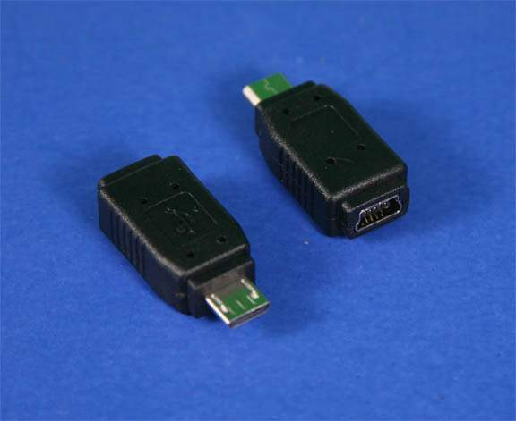 USB Mini-B Female to Micro-B Male Adapter