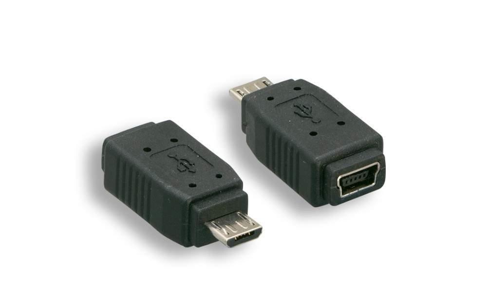 USB Mini-B Female to Micro-B Male Adapter