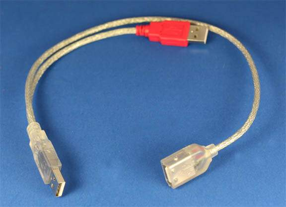 USB Power Combine A-Male A-Male to A-Female