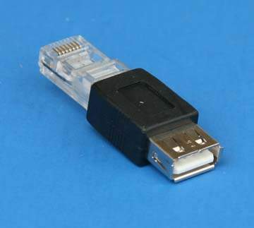 USB Type A Female to RJ45 Male Adapter