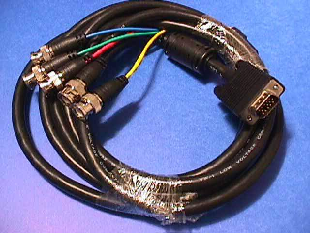 VGA HD-15 to 5 BNC RGB Video Cable for HDTV Monitor cable 10FT