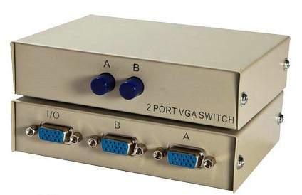 VGA HD15 AB Switch Box Push Button