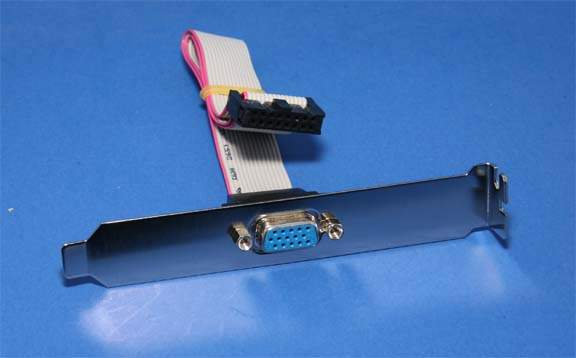 VGA Port HD15F Adapter to IDC16 12 Inch