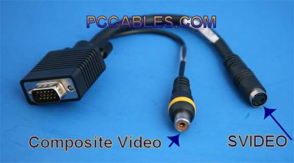 VGA Port on Laptop to SVIDEO or RCA